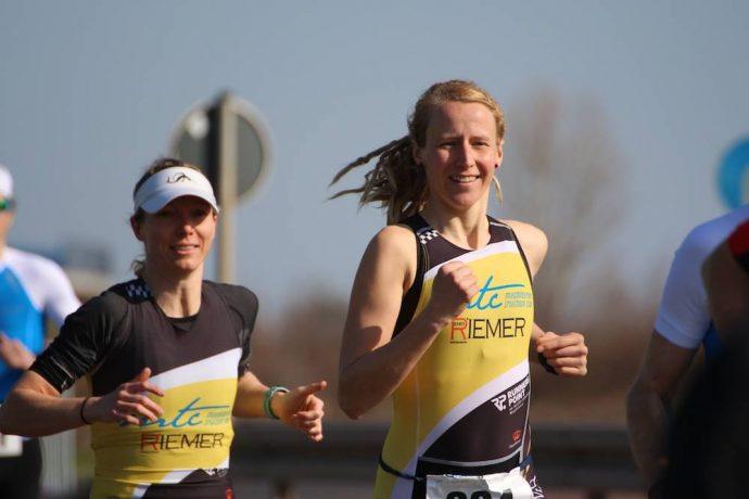 Marisa Pfeifer und Doreen Baecke beim Halle-Duathlon 2018